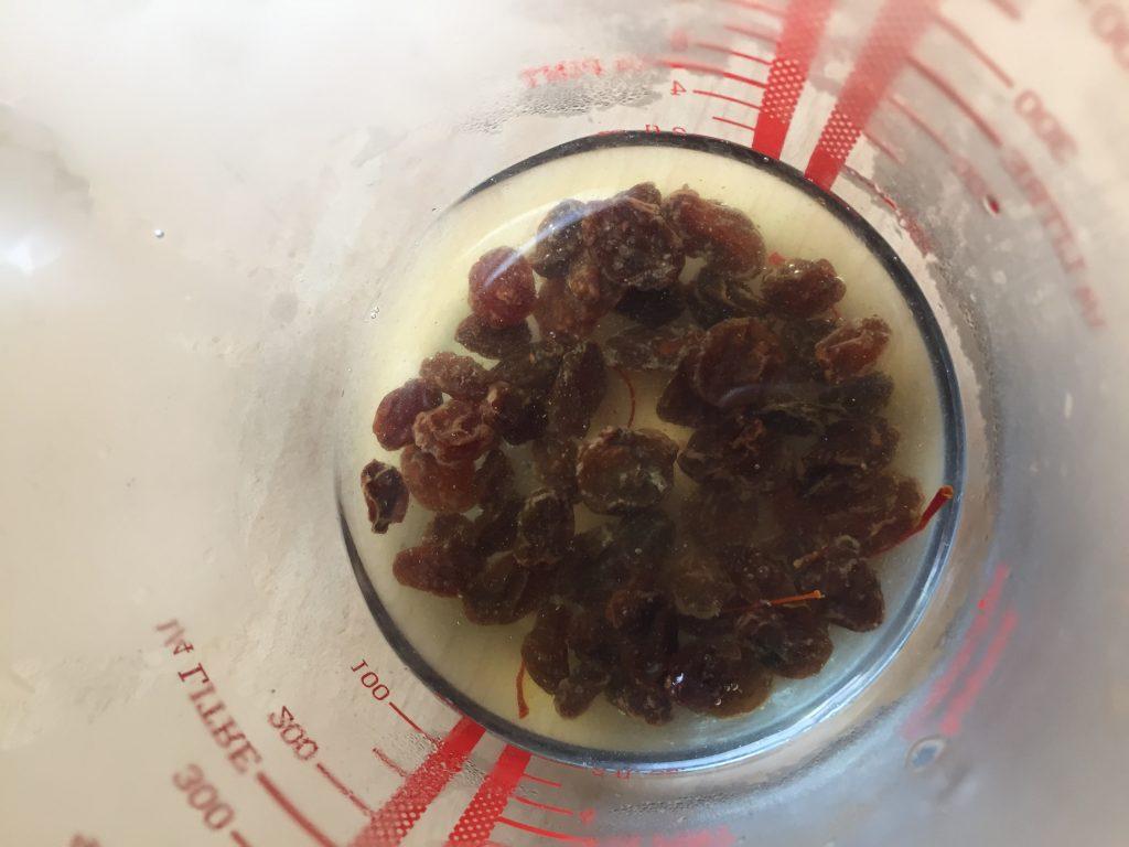 raisins and saffron