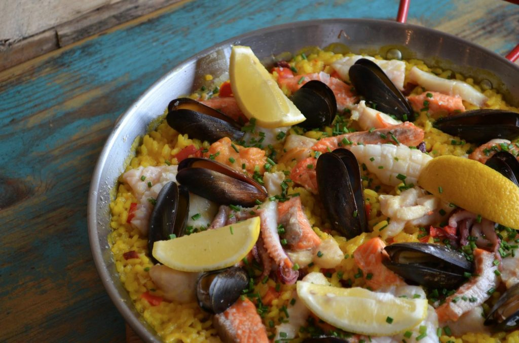Butcher and Catch, Sheffield, Seafood Paella
