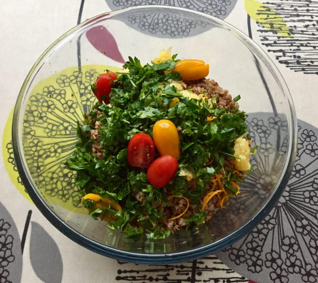 Mixed buckwheat salad