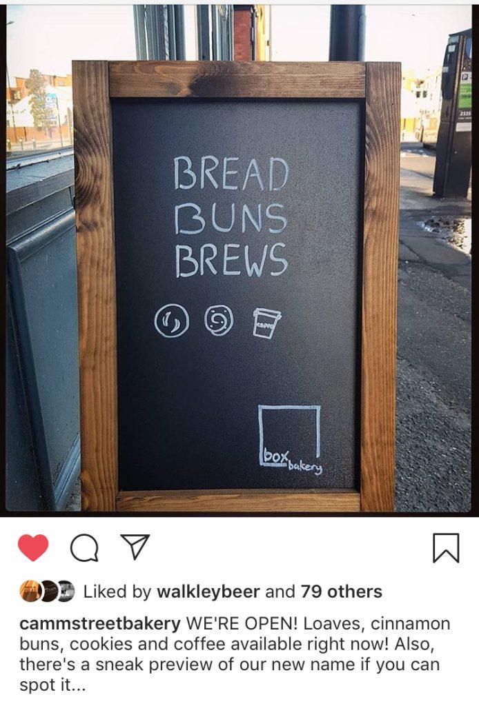 Box Bakery Sheffield Instagram