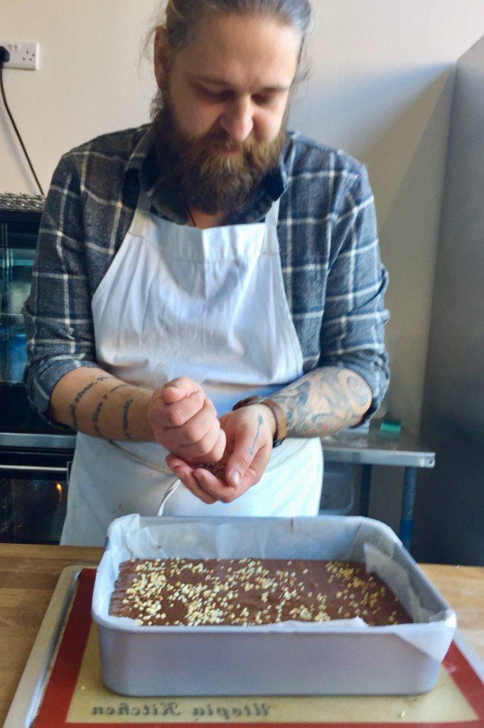 Pete makes brownies